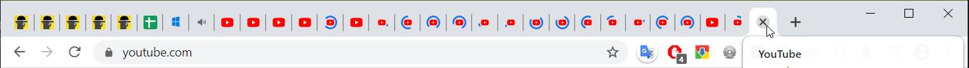 2. Too many tabs opened - Chrome high CPU