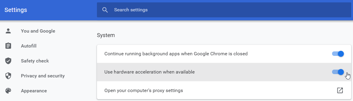 Why is Google Chrome so slow? Try using hardware acceleration