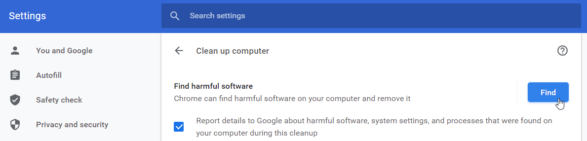 Why is Google Chrome so slow? Try finding harmful software