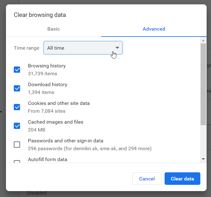 Why is Google Chrome so slow? Try clearing your browsing data
