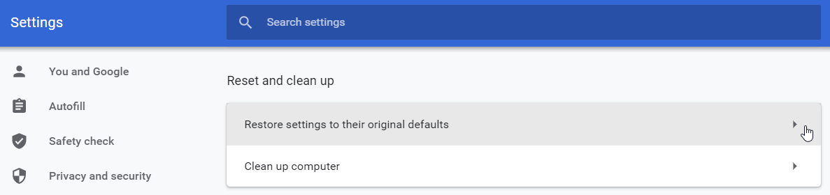 Why is Google Chrome so slow? Try restoring settings to defaults