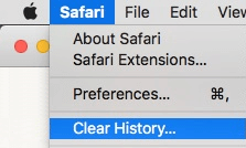 Is Safari running slow on Mac? - Click on Safari menu and Clear History