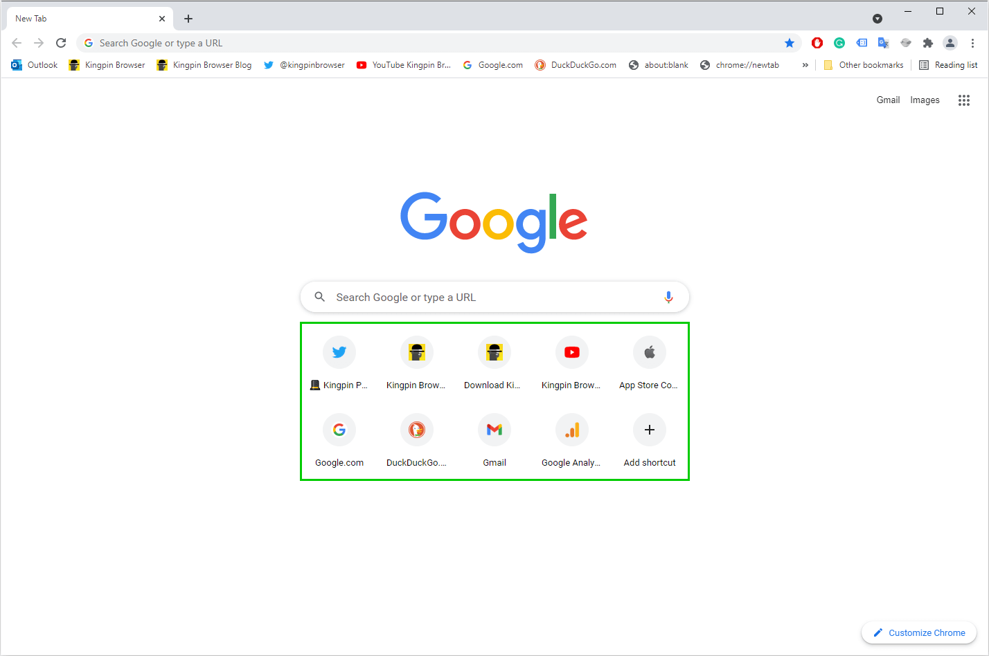 How to remove thumbnail shortcuts from Chrome New tab