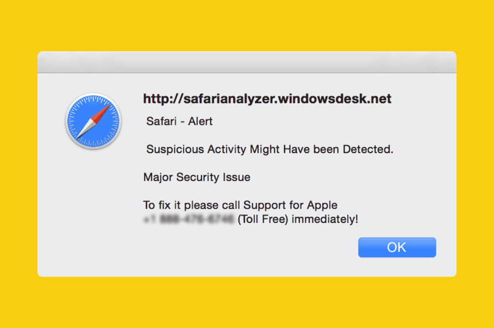 Safari Alert Suspicious Activity Detected (Scam Removal)